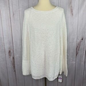 Style and Co Bell Sleeve Boho Chunky Sweater XXL
